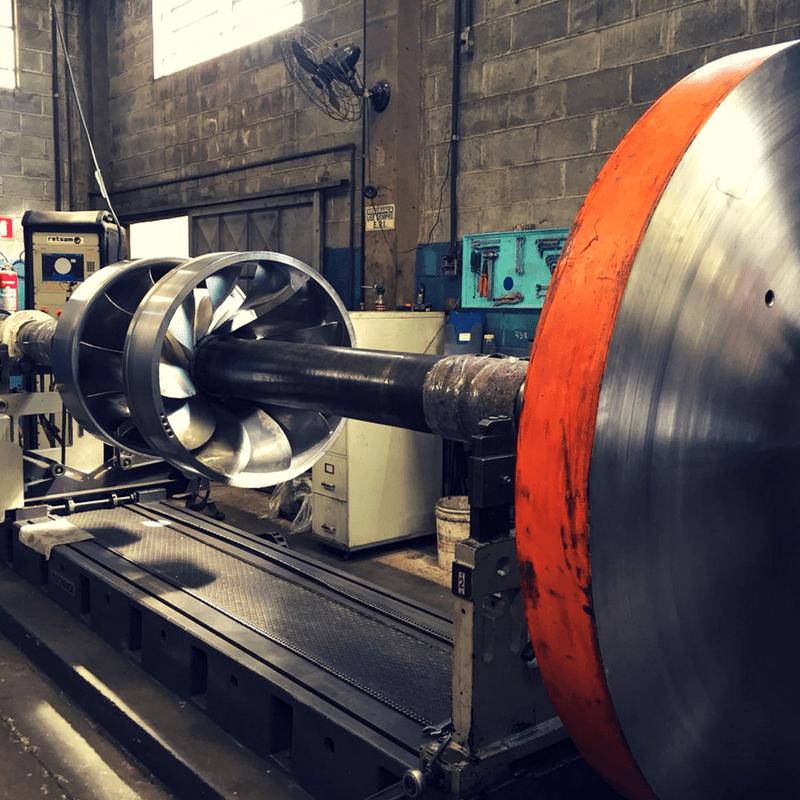 Balanceamento industrial para peças grandes, até 6000 kilos